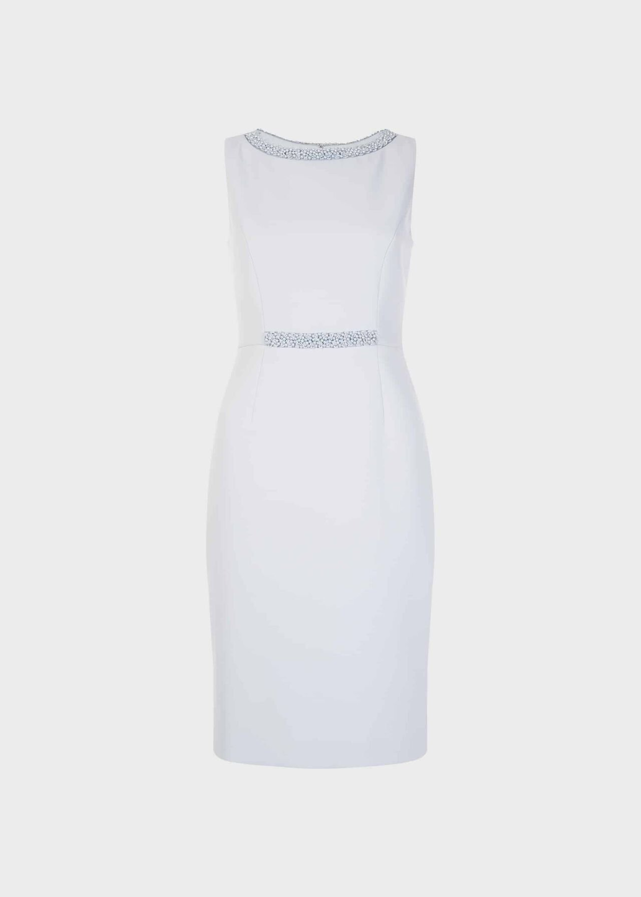Gill Embellished Shift Dress Pale Blue