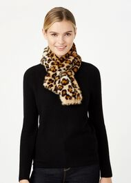 Leigh Neck Wrap, Leopard, hi-res