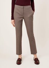 Anna Trousers, Burgundy Multi, hi-res
