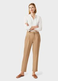 Harrietta Tapered trousers With Wool, Camel, hi-res