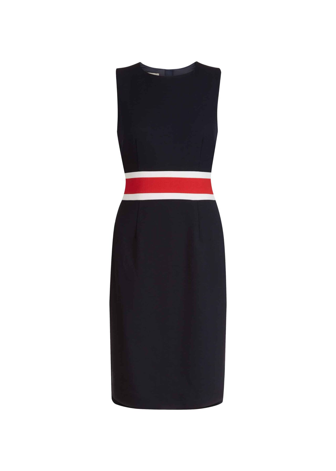 Annabel Dress Navy Red Ivory