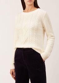 Tess Sweater, Ivory, hi-res