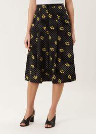 Emmy Skirt, Black Mimosa, hi-res