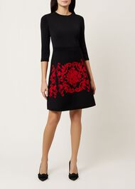 Aliza Dress, Black Red, hi-res