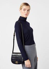 Oxford Saddle Bag, Navy, hi-res
