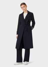 Serena Coat, Navy, hi-res