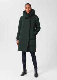 Heather Water Resistant Puffer Jacket, Dark Ivy Green, hi-res