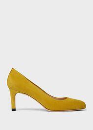 Lizzie Suede Stiletto Court Shoes, Chartreuse, hi-res
