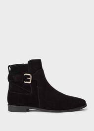 Zoe Suede Ankle Boots, Black, hi-res