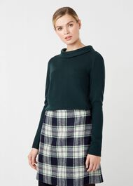 Audrey Wool Cashmere Sweater, Ivy, hi-res