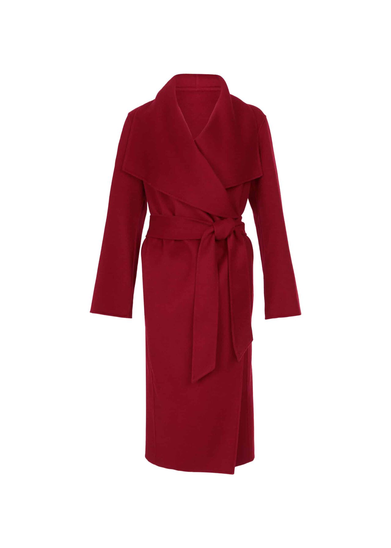 Odelia Double Face Wool Blend Coat Berry