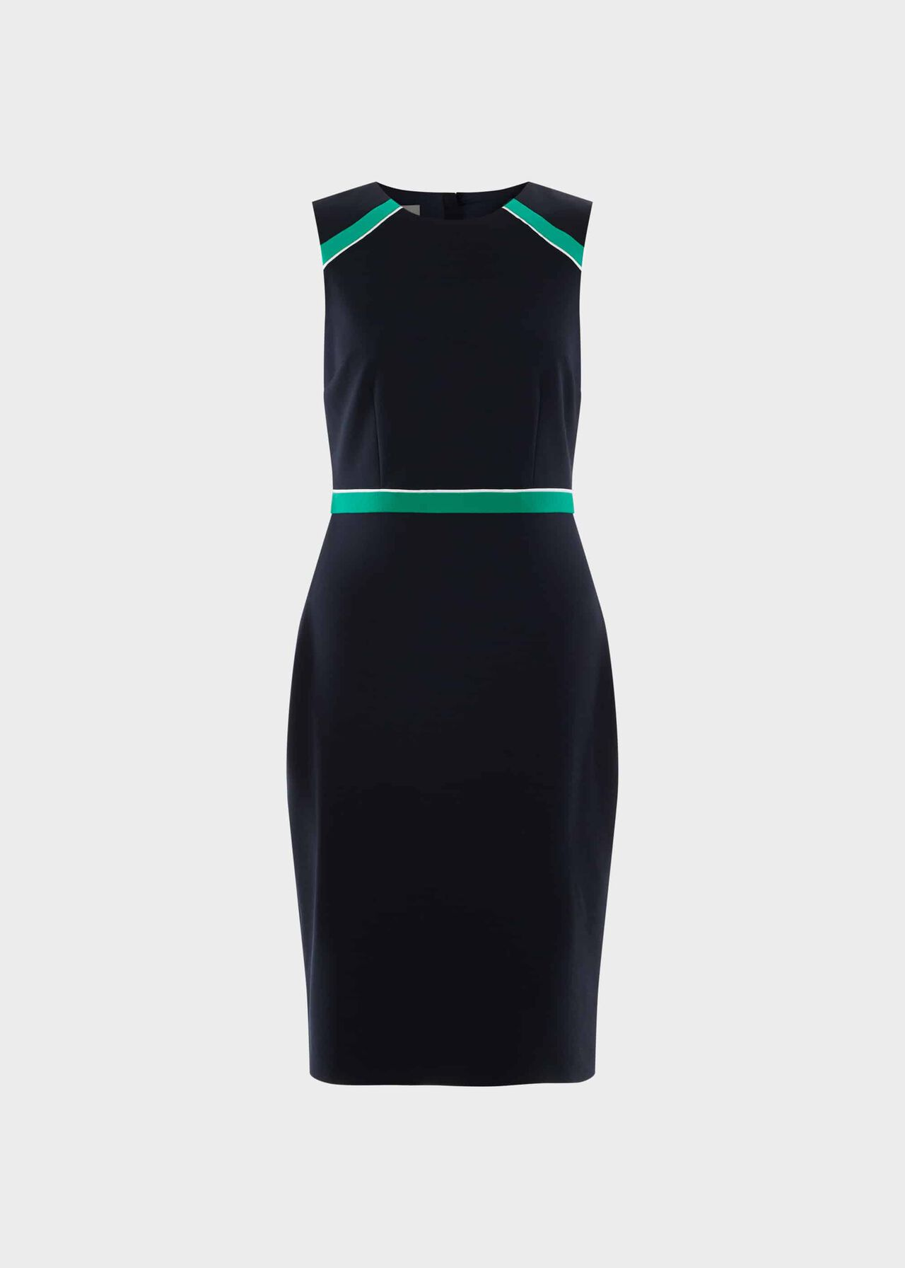 Petite Nala Dress Navy Green Ivry