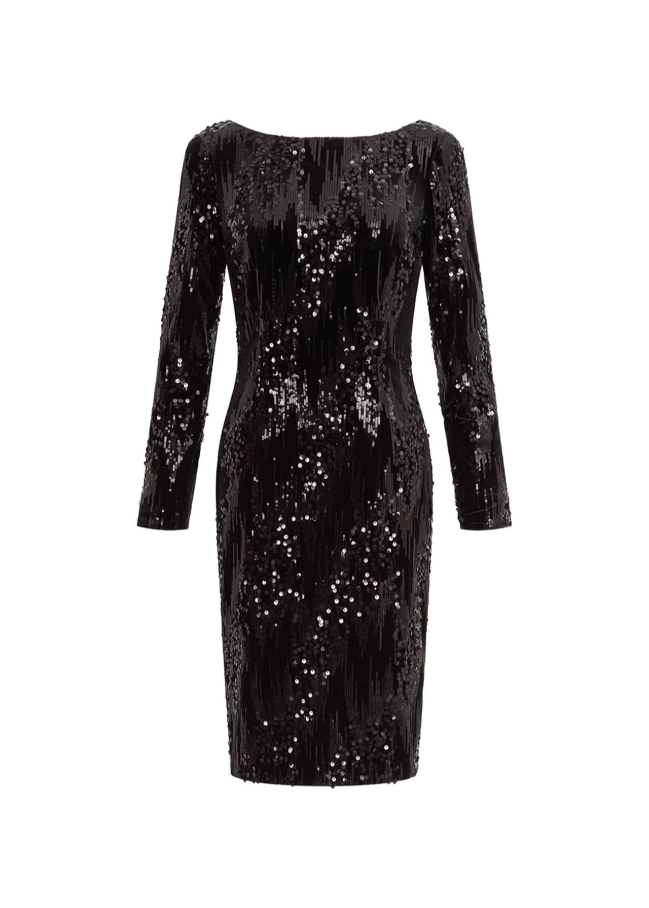 Sawyer Sequin Dress Black