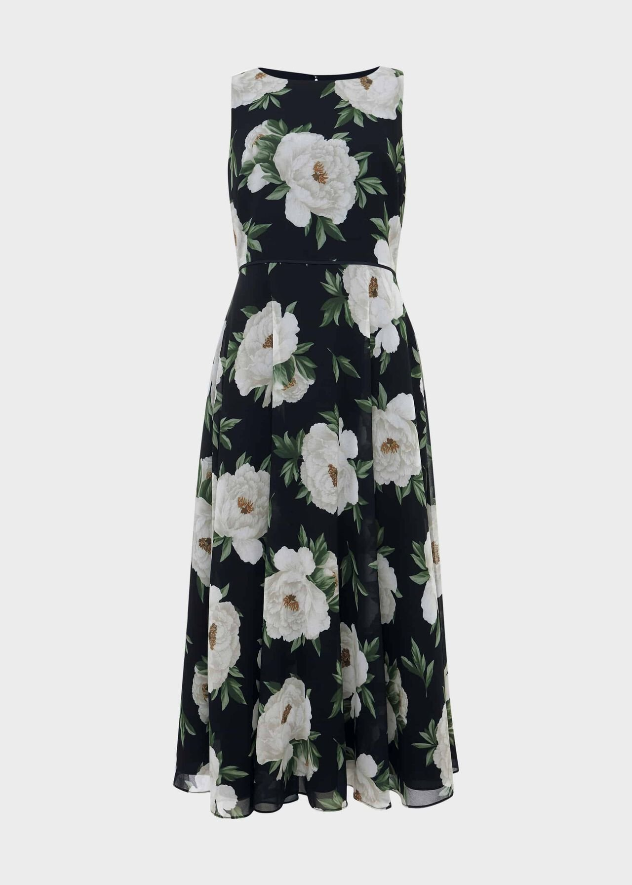 Petite Carly Floral Dress Navy Ivory