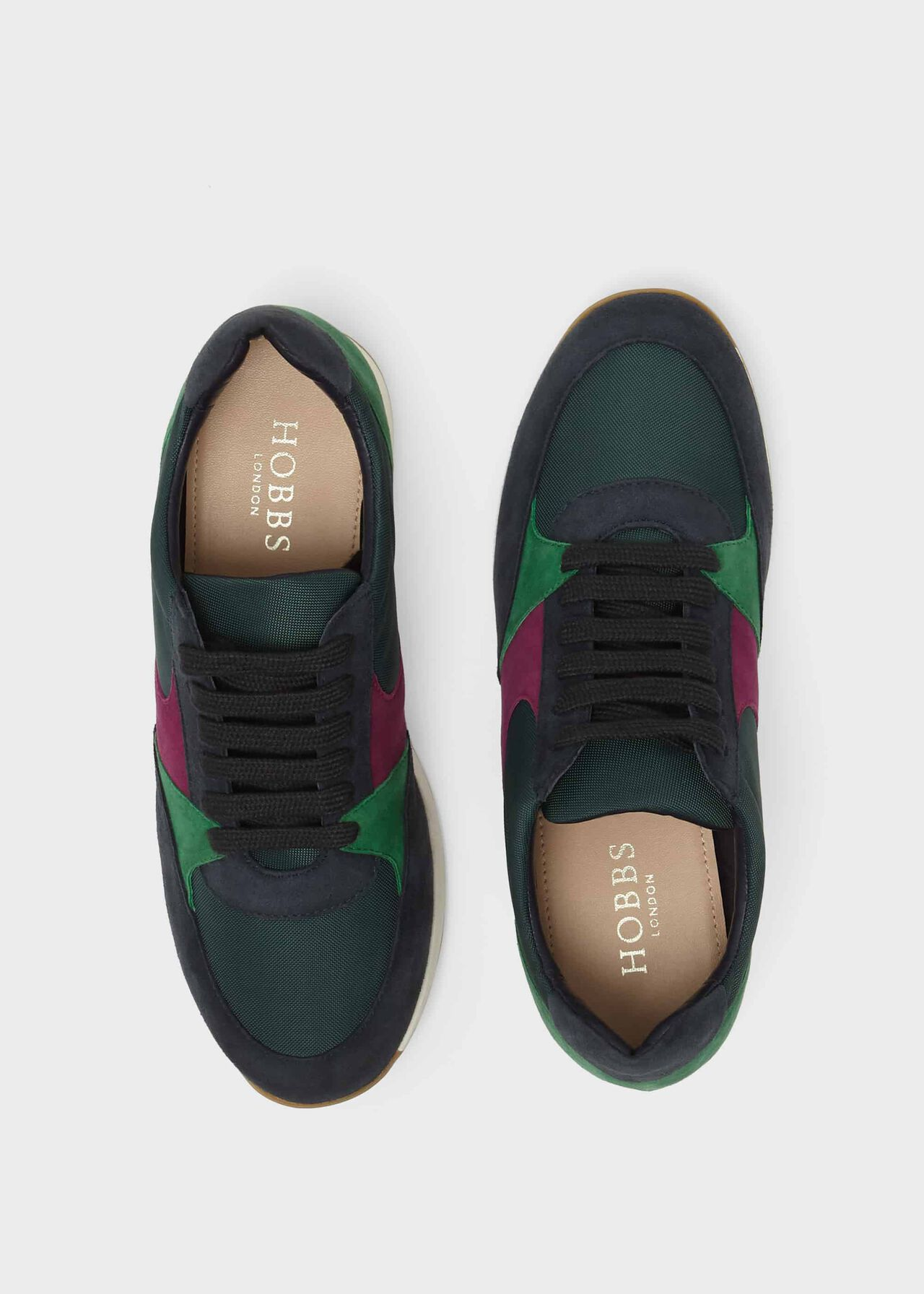 Mara Suede Trainers , Green, hi-res