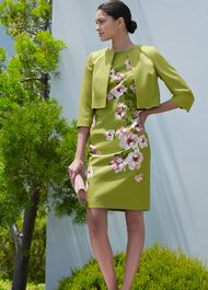 Moira Floral Shift Dress, Spring Grn Blsh, hi-res