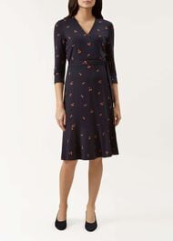 Kelly Wrap Dress, Navy Multi, hi-res