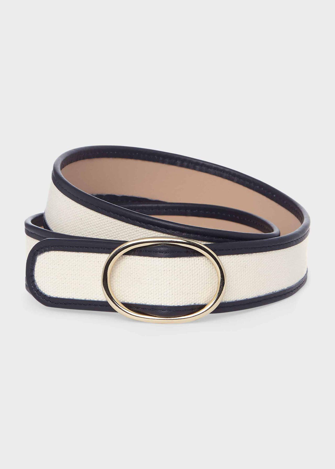 Colette Canvas Belt , Navy, hi-res