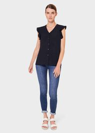 Laura Blouse, Navy, hi-res