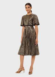 Betsey Sequin Dress, Metallic, hi-res