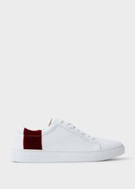 Nina Leather Trainers, Conker, hi-res