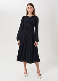 Sadie Dress, Navy, hi-res