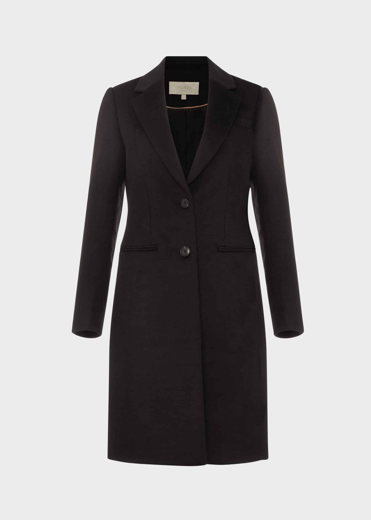 Petite Tilda Wool Coat Black