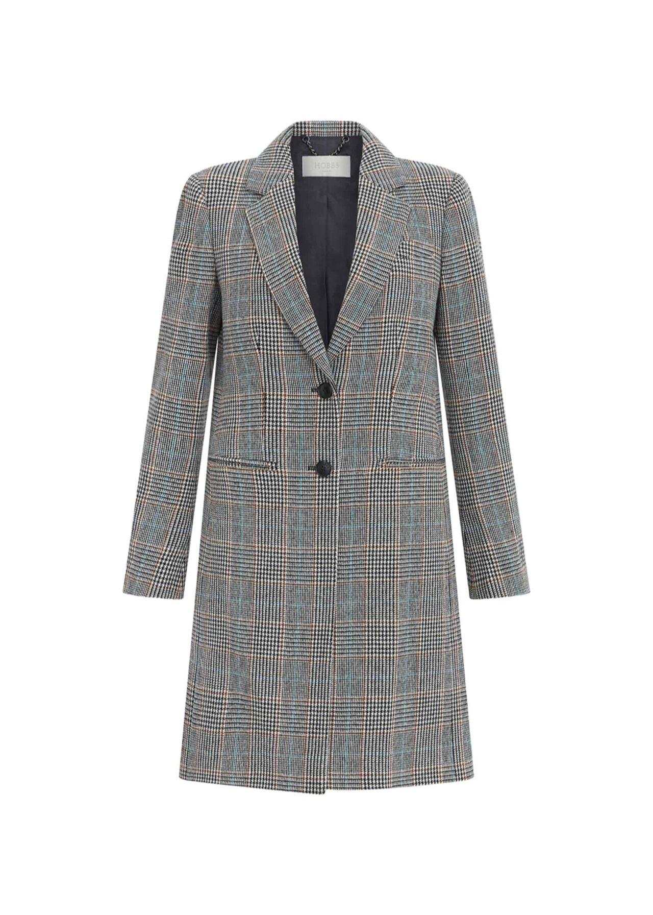 Tilda Wool Blend Coat Grey Multi