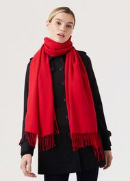 Matilda Scarf, Red, hi-res