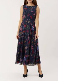 Carly Dress, Navy Multi, hi-res