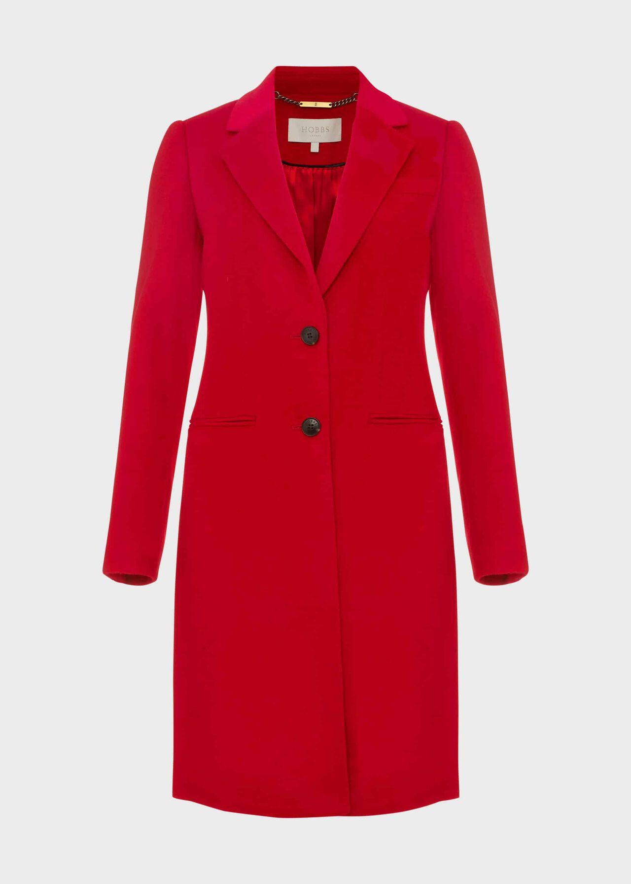 Tilda Wool Coat Red