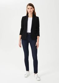 Ophelia Jacket With Stretch, Black, hi-res