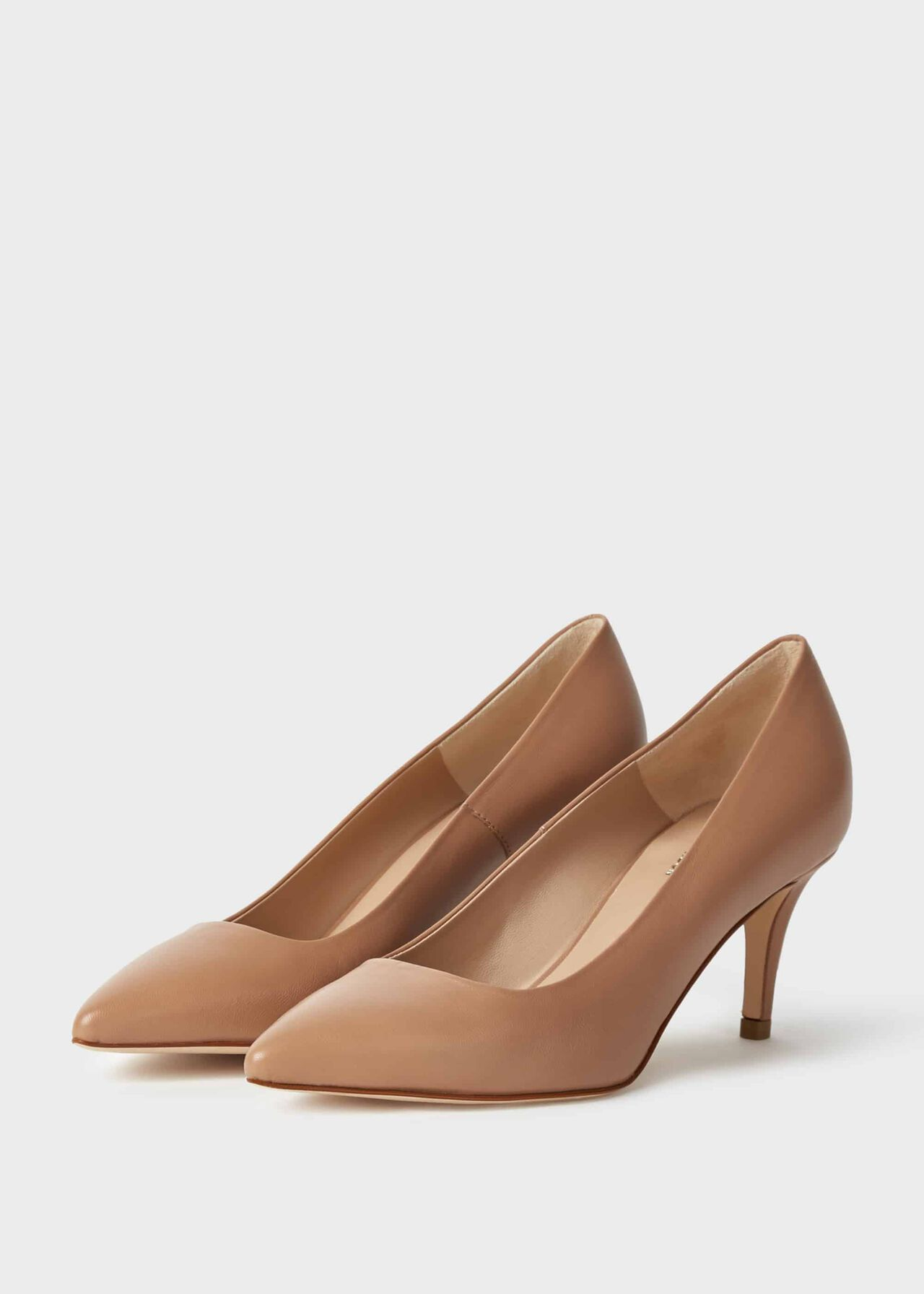 Elouise Leather Stiletto Court Shoes Toasted Almond