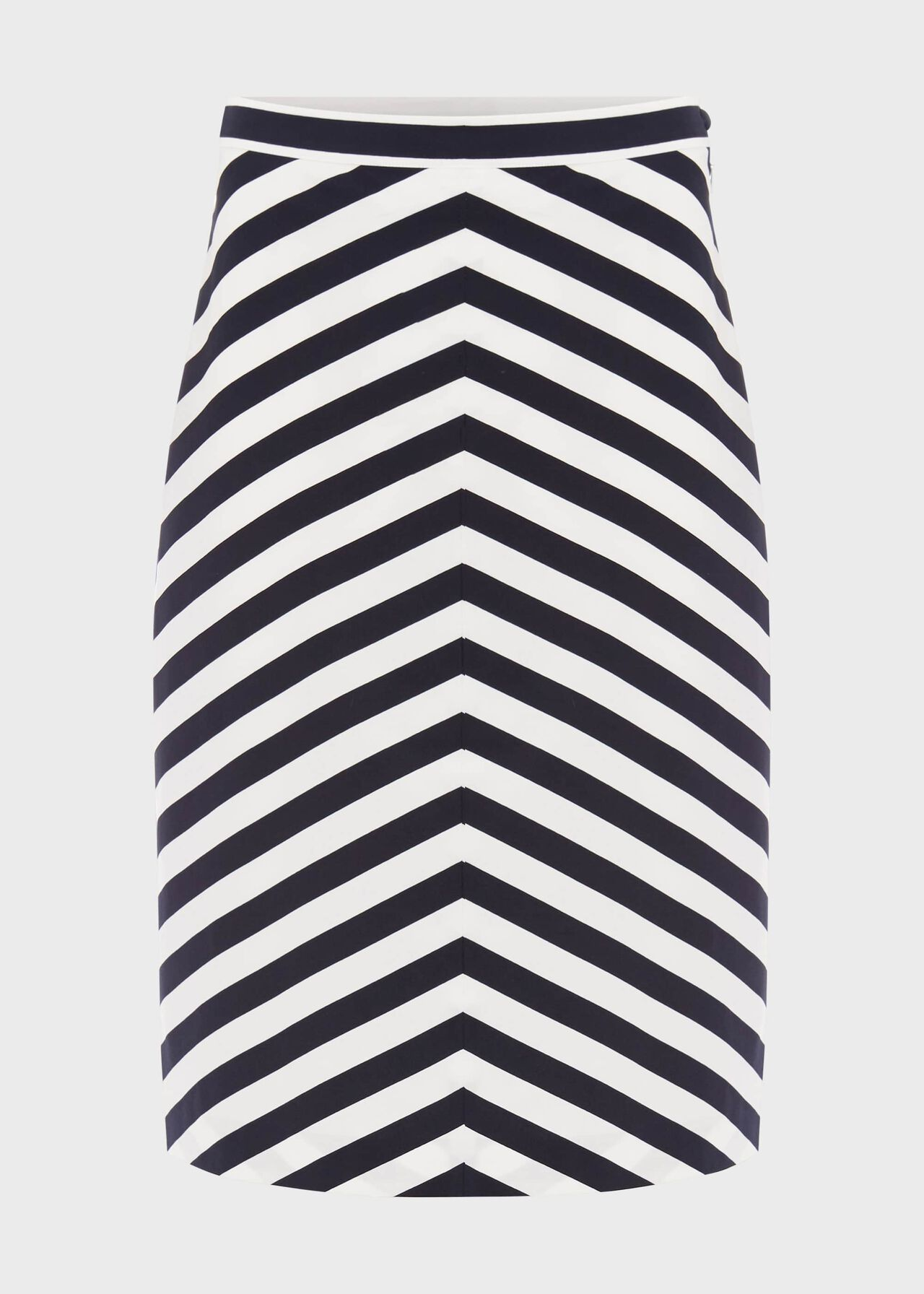 Talisa Cotton Stripe A Line Skirt, Navy White, hi-res