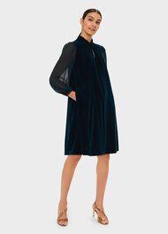 Faye Velvet Dress, Pine Green, hi-res