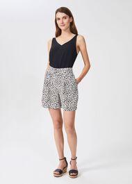 Christa Floral Shorts, Navy Ivory, hi-res