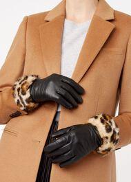 Camilla Glove, Black Leopard, hi-res