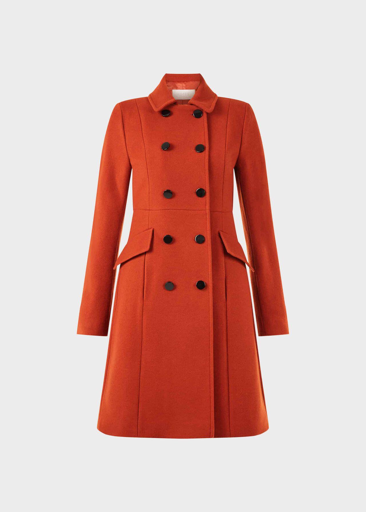 Dorothea Wool Blend Coat Spice Orange