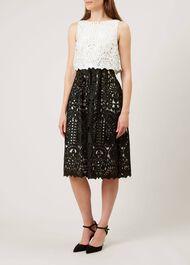 Emmie Dress, Ivory Black, hi-res