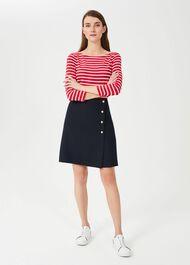 Aurielia A Line Skirt, Navy, hi-res