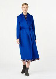 Elena Wool Coat, Cobalt, hi-res