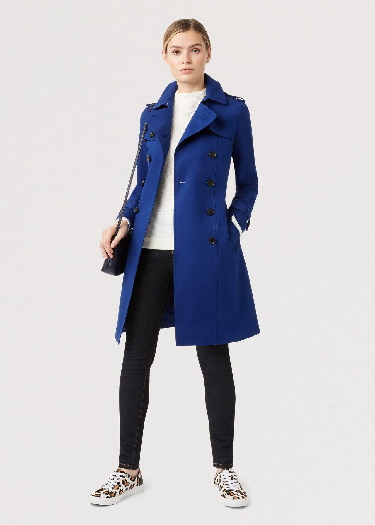 Petite Saskia Trench Coat, Cobalt, hi-res