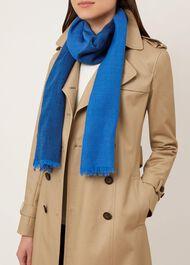 Evie Wool Scarf, Blue, hi-res