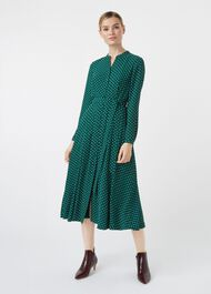 Tarini Dress, Green Ivory, hi-res