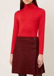 Mischa Roll Neck, Red, hi-res