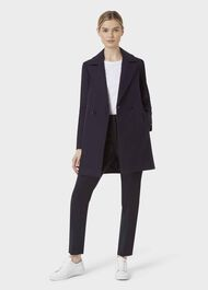 Melia Coat, Navy, hi-res