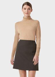 Gracie A line Skirt, Black Camel, hi-res