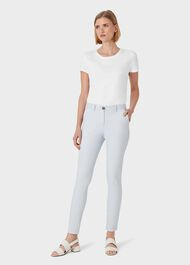 Pavilion Cotton Blend Slim Chinos With Stretch, Sky Blue, hi-res