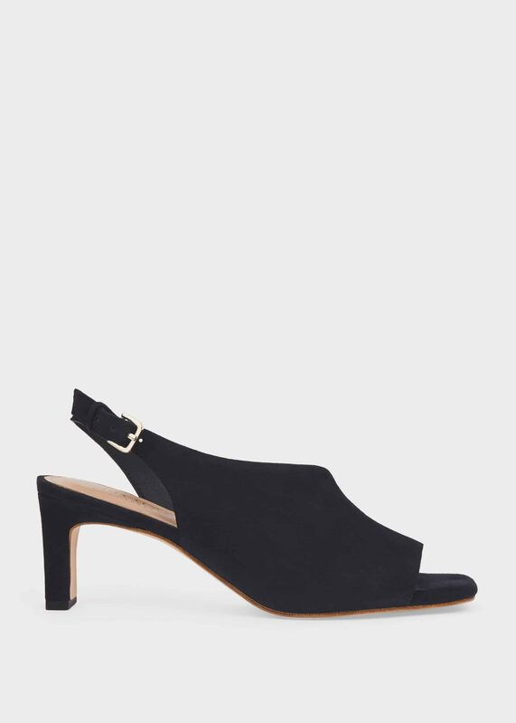 Leather Heeled Mule Shoes Leather Summer Shoes KATE Heeled Black Suede Mules Suede Shoes Block Heels Suede Slip On Sandals