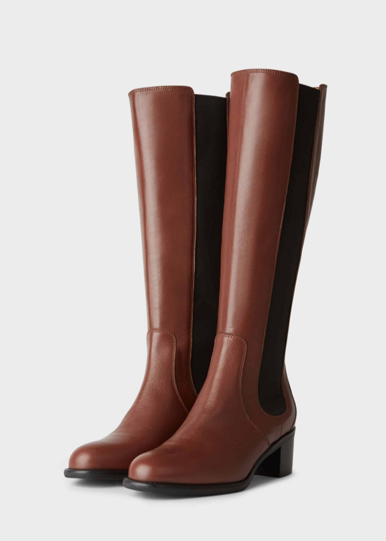 Emma Knee Boot Dark Tan
